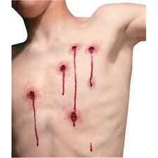 5 BULLET HOLE WOUNDS REEL F/X LATEX WOUND SCAR PROSTHETIC SPECIAL EFFECT MAKEUP