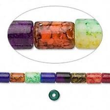 3980 Glass Beads Tube 6x4mm 36 inch Multi Coloured *UK EBAY SHOP*