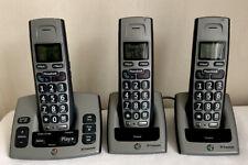 BT Freestyle 750 Digital Cordless Phones With Answer Machine Trio Big Button Vgc