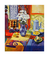 Peter Graham Harlequin table Still Life poster stampa d'arte immagine 60x50cm