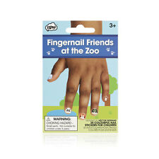 NPW-USA At The Zoo Fingernail Friends Nail Art Stickers for Children (25 Count)
