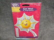 """Get Well Soon Star Shaped Sunshine 18"""" Foil Balloon Personalized NEW"""