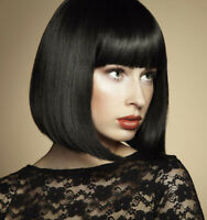 Synthetic Hair Wigs Straight Short Bob Wig For Women Black Party Cosplay Wig
