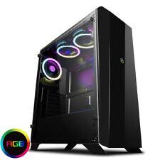 Game Max Aurora RGB Midi Tempered Glass Gaming PC Case 3x LED Lighting Fans