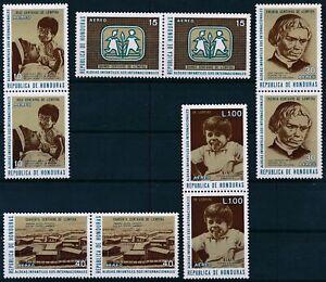 [P15229] Honduras 1972 : 2x Good Set Very Fine MNH Stamps in Pairs