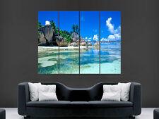 Tropical Beach Arena paraíso de agua de mar Arte enorme de imágenes de gran Poster Gigante