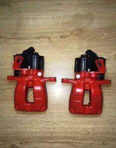 O.E VW Passat B6 Rear LEFT + RIGHT TRW electric brake calipers 07-10 EPB in RED
