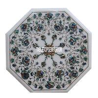 """24"""" Marble kitchen Table Semi Precious Stones PauaShell  Inlay Arts Home Decor"""