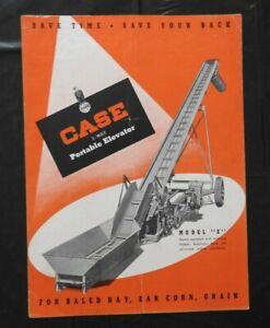 "1949 J I CASE ""MODEL E 3-WAY PORTABLE ELEVATOR"" SALES CATALOG BROCHURE VERY GOOD"