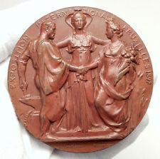 1897 BELGIUM Brussels WORLD's FAIR INTERNATIONAL:EXPOSITION BIG 7cm Medal i75115