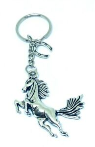 Horse, equine, lucky horse shoe pony keyring key ring gift Party bag favours