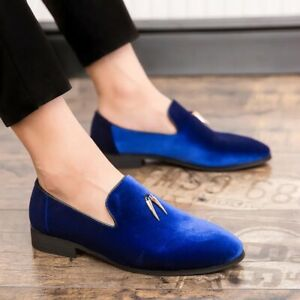 Mens Velvet Pointed toe Slip on Loafers Casual Gomminos Outdoor Pumps Shoes Plus