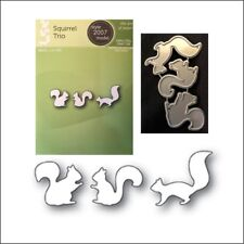 Poppystamps metal dies Squirrel Trio cutting Die 2007 animals squirrels