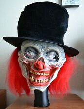 Halloween Latex Evil Clown- Top Hat and Long Red Hair  Adult Size