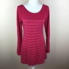 Lole Womens Athletic Medium Pink Orange Stripe Top