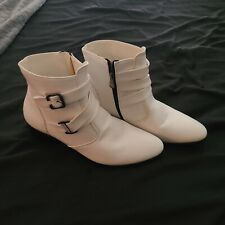 Men's White Stage Boots 10.5