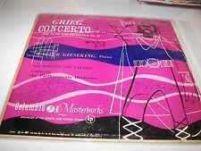 Grieg Concerto A Minor Op 16 Walter Gieseking LP EX Columbia ML4431