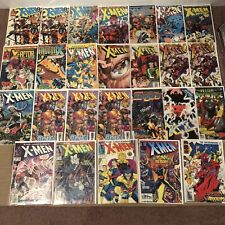 Marvel X-Men Comic Book Lot Of 26 ~ SOME DUPS ~ Low Grade Lot ~ Bagged & Boarded