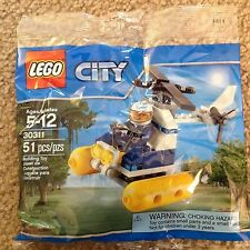 Lego City Bag 30311 Swamp Police Helicopter Pilot Minifigure helmet pontoon
