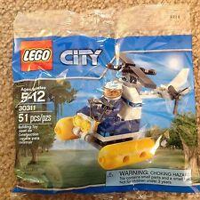 Lego City Bag 30311 Swamp Police Helicopter Pilot Minifigure helmet pontoon