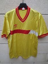 Maillot UMBRO vintage années 80 football shirt jersey collection jaune trikot L