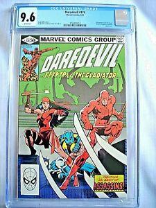 Marvel DAREDEVIL #174 CGC 9.6 NM+ White Pages Frank Miller 1981