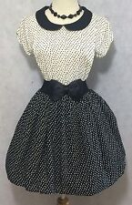 Forever 21 Los Angeles Rockabilly 50's Style Lolita School Girl Belted Dress S