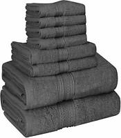 8 Piece Towel Set 2 Bath Towels 2 Hand Towels 4 Washcloths Cotton Wholesale Lot
