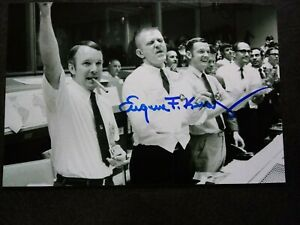 EUGENE KRANZ (GENE) Authentic Hand Signed 4X6 Photo APOLLO NASA FLIGHT DIRECTOR