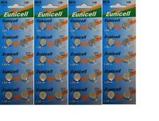 EUNICELL 40 PILES BOUTON ALCALINES LR44 AG13 A76 1.5V