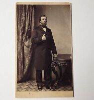 Antique Photo CDV Boston MA F L Lays Photographer Masonic Man