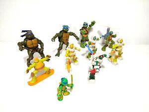 Ninja Turtles Lot Of 10 Vintage Action Figures & Toys TMNT 2002 - 2015