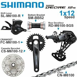 SHIMANO M6100 12v Groupset Shifter Rear Cassette Sprocket Chain CRANKSET 1x12