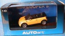 MINI COOPER S CABRIOLET YELLOW AUTOART 1/43 ROADSTER ROADSTER JAUNE GELB BMW
