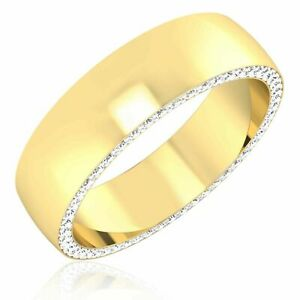 0.68 Ct rEAL Diamond Men's Engagement Ring 14K Solid Yellow Gold Band Size R s T