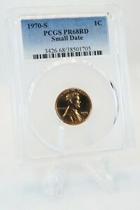 1970-S PCGS PR68RD Small Date Lincoln Cent Proof 1C *RARE*