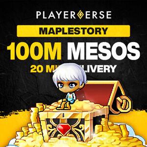 Maplestory Global Mesos - 100M (100,000,000) Million - All Servers/Regions