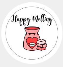 Happy Melting Stickers/Labels 37mm