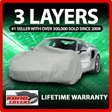 3 Layer Car Cover - Soft Breathable Dust Proof Sun UV Water Indoor Outdoor 3301