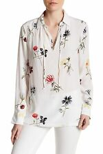 $268 NWT Equipment Bristol Floral Print Silk Blouse Shirt Q2801-E872 XS