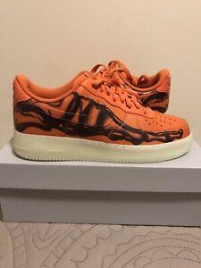 Nike Air Force 1 Low Orange Skeleton Size 10