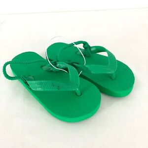 Cat & Jack Toddler Boys Lance Flip Flop Sandals Green Shoes Size M 7/8