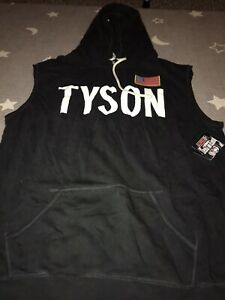 ROOTS OF FIGHT BOXING MIKE TYSON SLEEVELESS HOODIE PULLOVER SWEATSHIRT XXXL 3XL