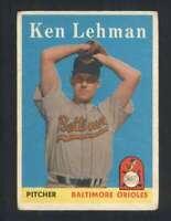 1958 Topps #141 Ken Lehman VG/VGEX Orioles 80954