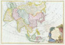 1771 Antique Map ASIA Borneo Philippines Malaysia Japan Arabia Tartary Tibet BLM