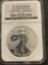 2006 P Reversed Proof American SILVER EAGLE NGC PF 69 20th Anniversary #013