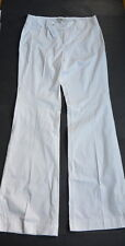 Banana Republic Pants 4 S Martin Fit Stretch White Trouser Cotton Flat Front NWT
