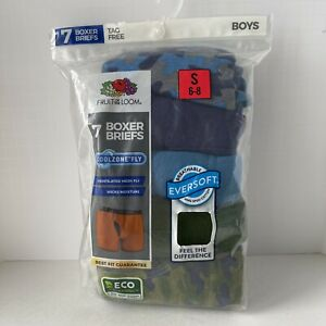 Fruit Of The Loom Boys 7pk CoolZone Fly Boxer Briefs  Size Small 6/8 Camouflage