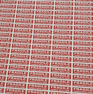 500 x FRAGILE HANDLE WITH CARE Labels Stickers 38mm long x 10mm Waterproof