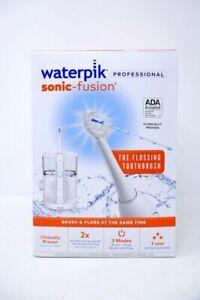 🌟🎈 Waterpik Sonic Fusion Flossing Toothbrush SF-01W020-1 White 🌟